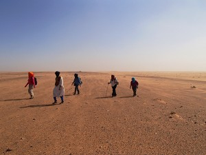 Cheminement dans le désert